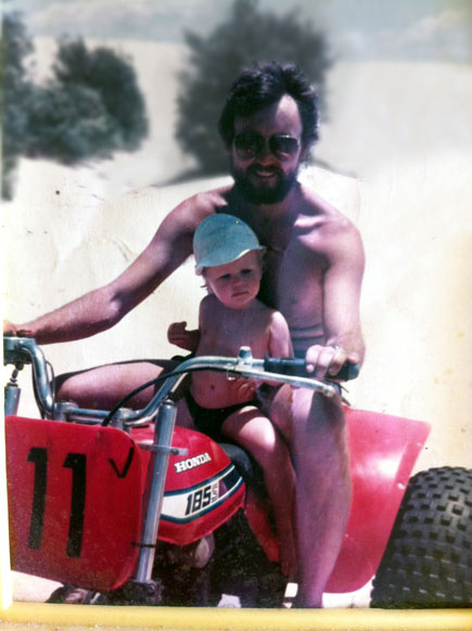 Ken and Jye on Racing Honda Trike
