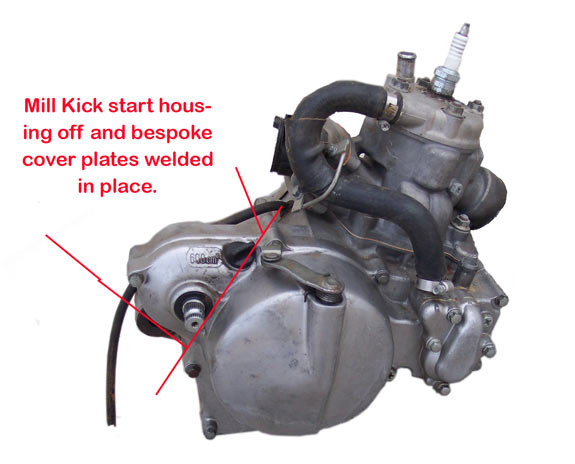 Modifications to Honda CR85 motor to fit in Honda RS125 chassis